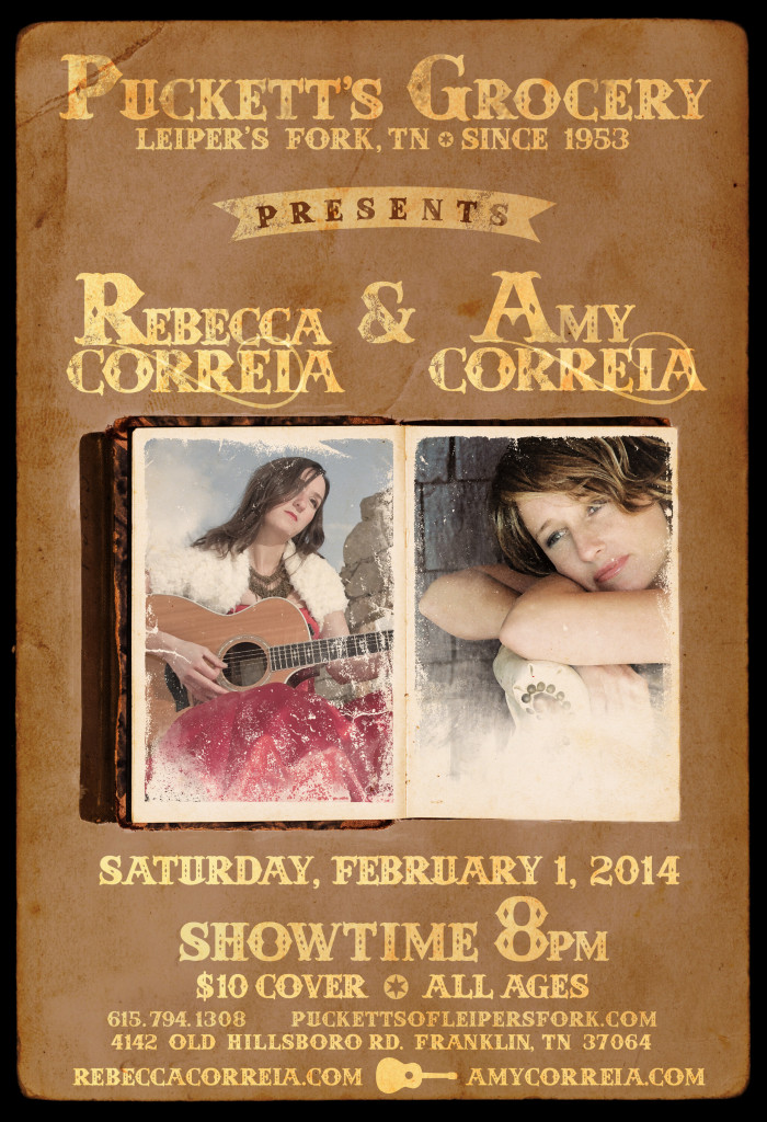 Cousins Rebecca and Amy Correia perform in Nashville Feb 1, 2014