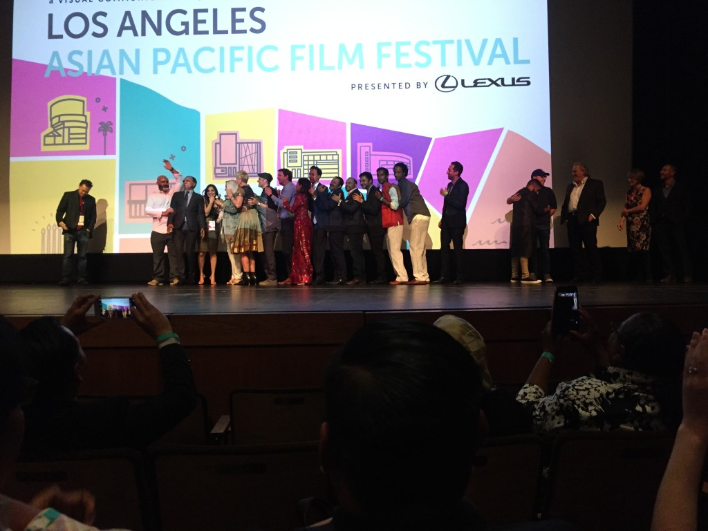 "Cast and crew of ""The Tiger Hunter"" celebrate opening night at L.A. Asian Pacific Film Fest."